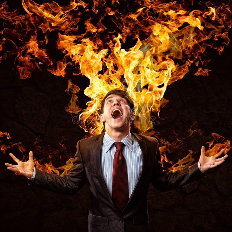 Download Violent man stock image. Image of fire, dangerous, boss - 35012557