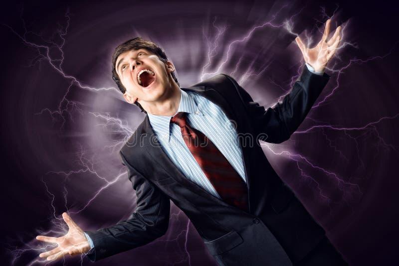 Download Violent man stock image. Image of feeling, expression - 35605323