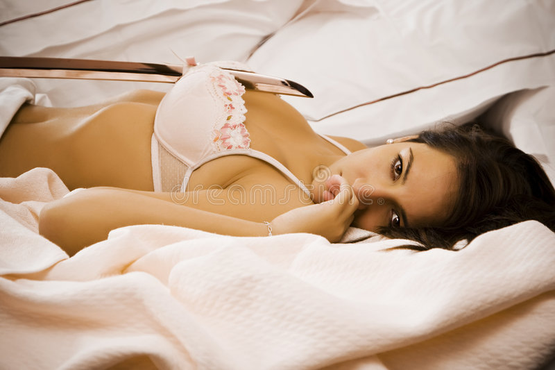 Download Violent scene stock photo. Image of bedstead, brunette - 6651584