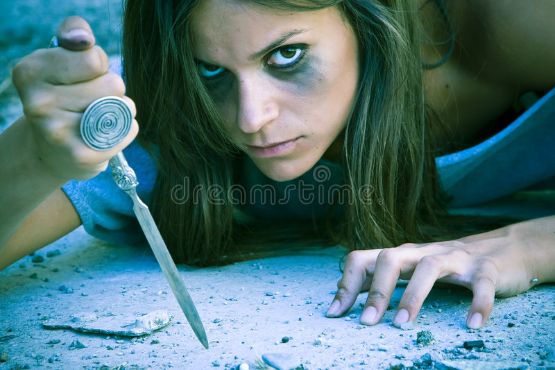 Violent Woman Royalty Free Stock Images