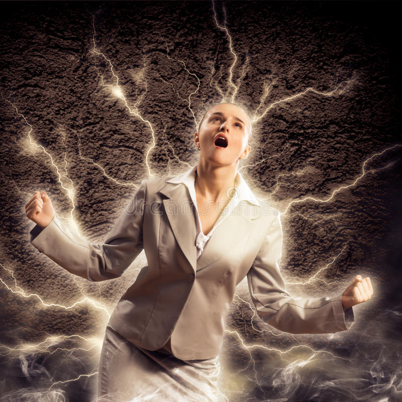 Violent Woman Royalty Free Stock Photo