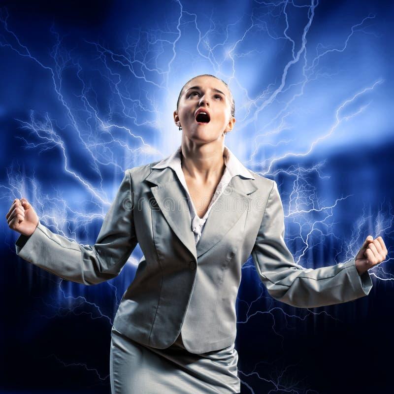 Download Violent woman stock image. Image of caucasian, lightning - 35605375