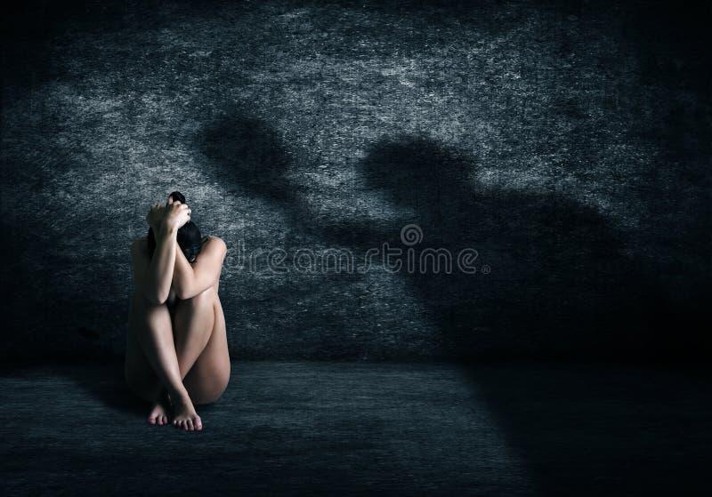 Violenza contro le donne immagini stock libere da diritti