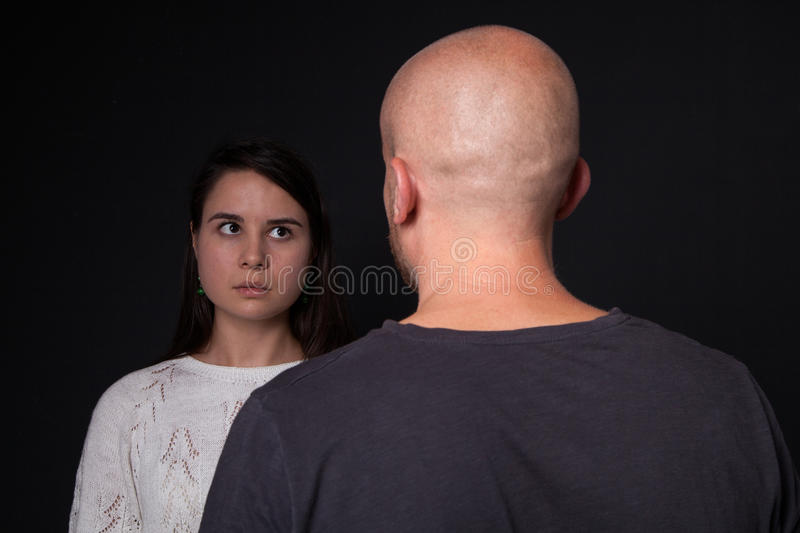 Violenza domestica alla donna fotografia stock