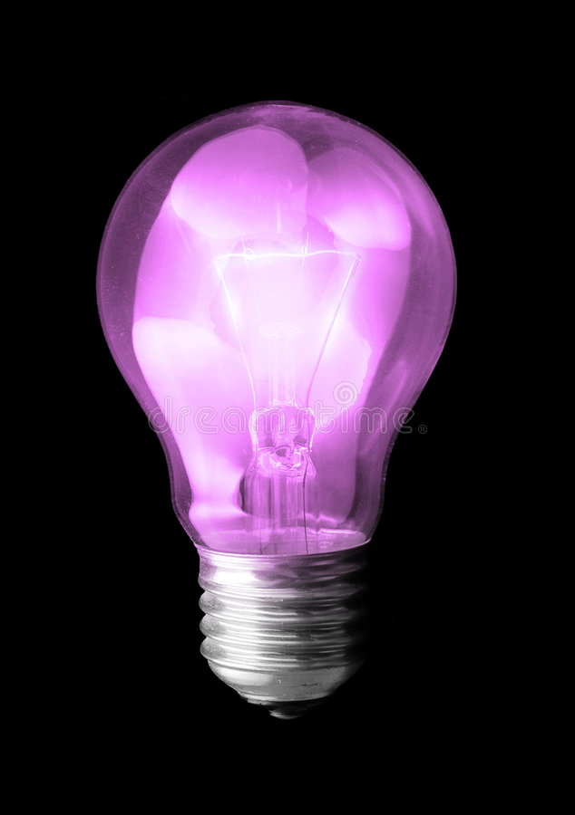 - violet światła żarówki zdjęcie stock