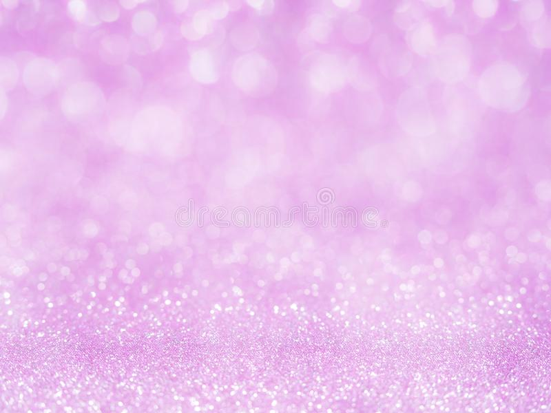 Violet abstract glitter background with bokeh. lights blurry soft pink for the romance background, light bokeh holiday party back royalty free stock photos