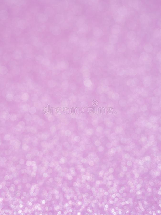 Violet abstract glitter background with bokeh. lights blurry soft pink for the romance background, light bokeh holiday party backg. Round for Christmas and New stock illustration