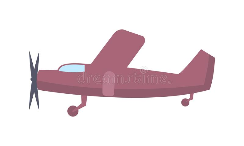 Violet Airplane Isolated on White Vector Poster royalty free illustration
