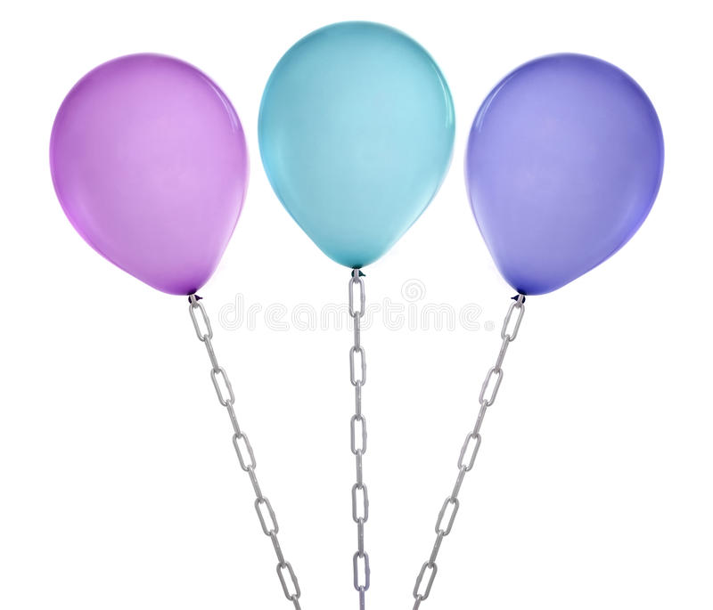 Violet balloon royalty free stock photography