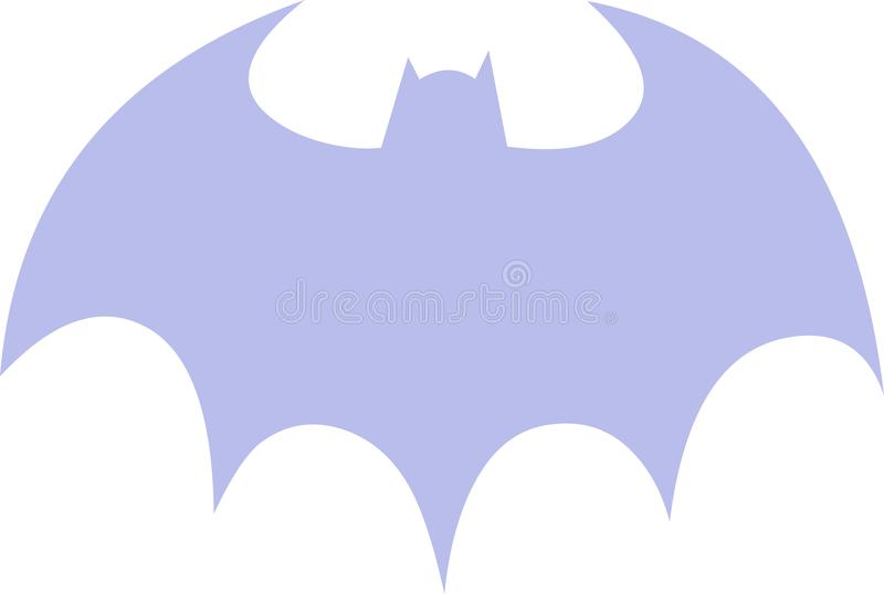 Violet Batman Symbol libre illustration