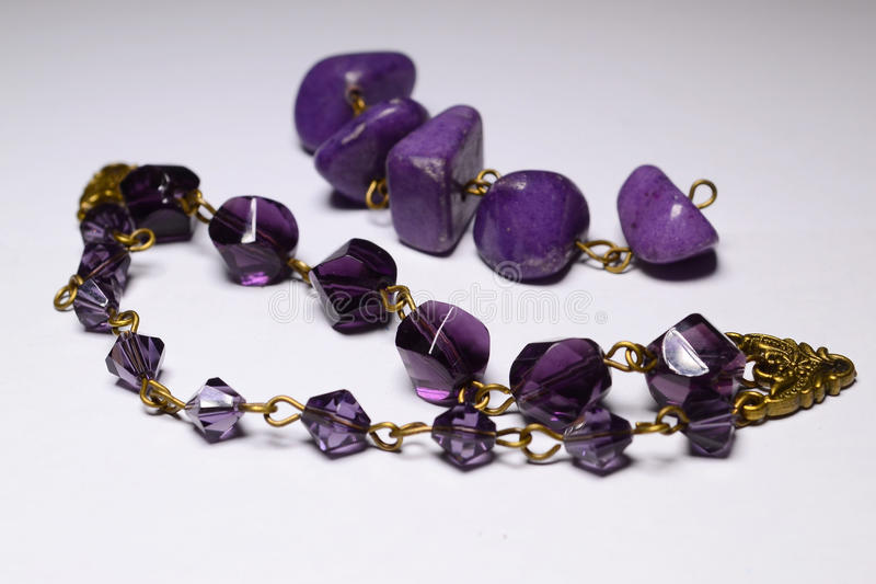 Violet Beads. For Jewelry Making royalty free stock photos