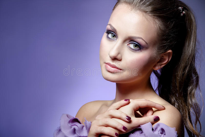 Download Violet beauty stock image. Image of makeup, lady, girl - 24503731