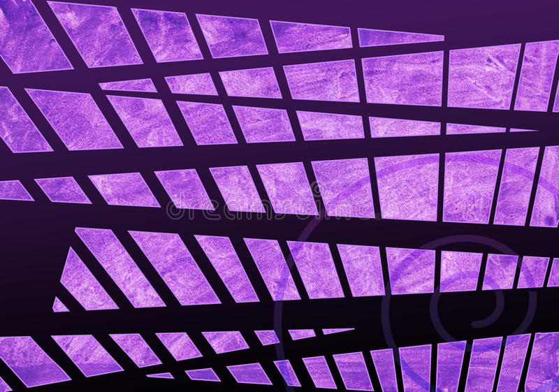 Violet and Black Background with spiral - triangles - quadrilat royalty free stock images