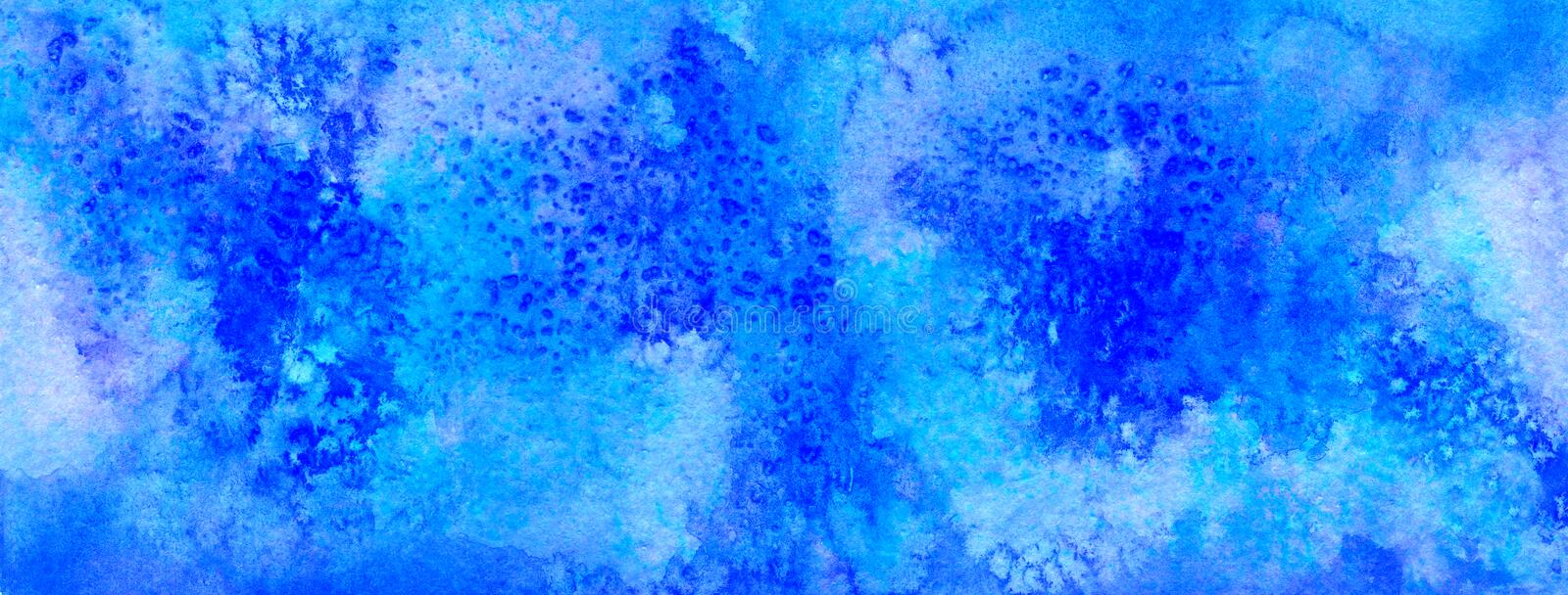 Violet and blue abstract watercolor for background stock photos