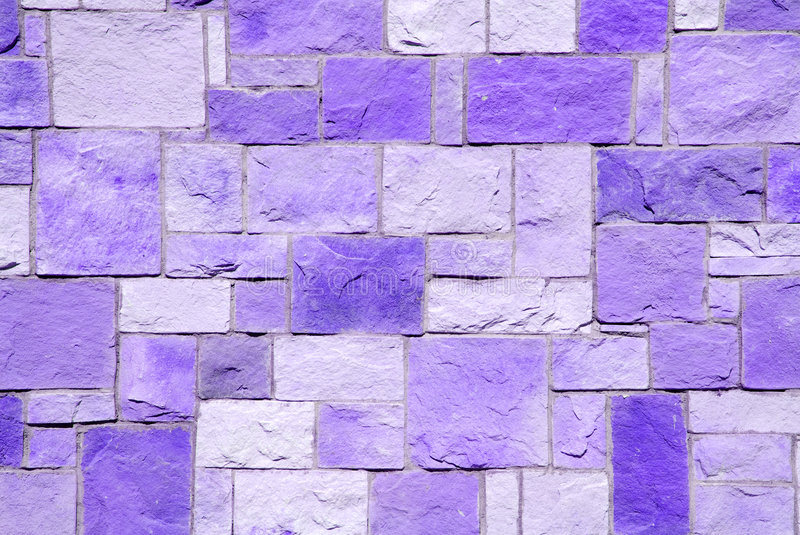 Violet brick patchwork. For background use stock photos