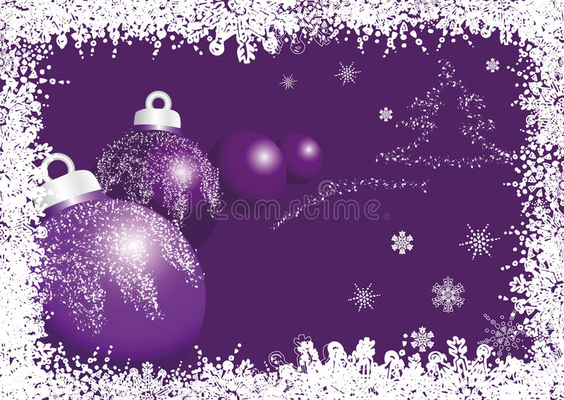 Download Violet christmas ball stock vector. Image of synopsis - 21857936