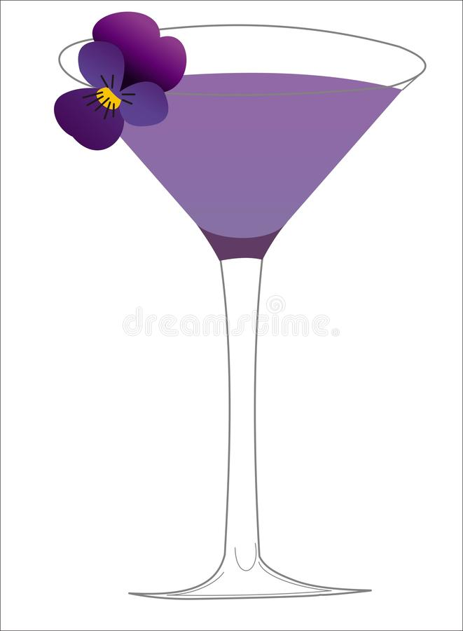 Violet cocktail royalty free stock photos