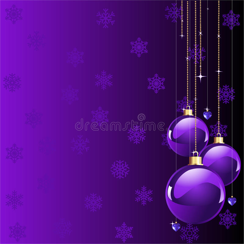 Violet colors Christmas stock photography
