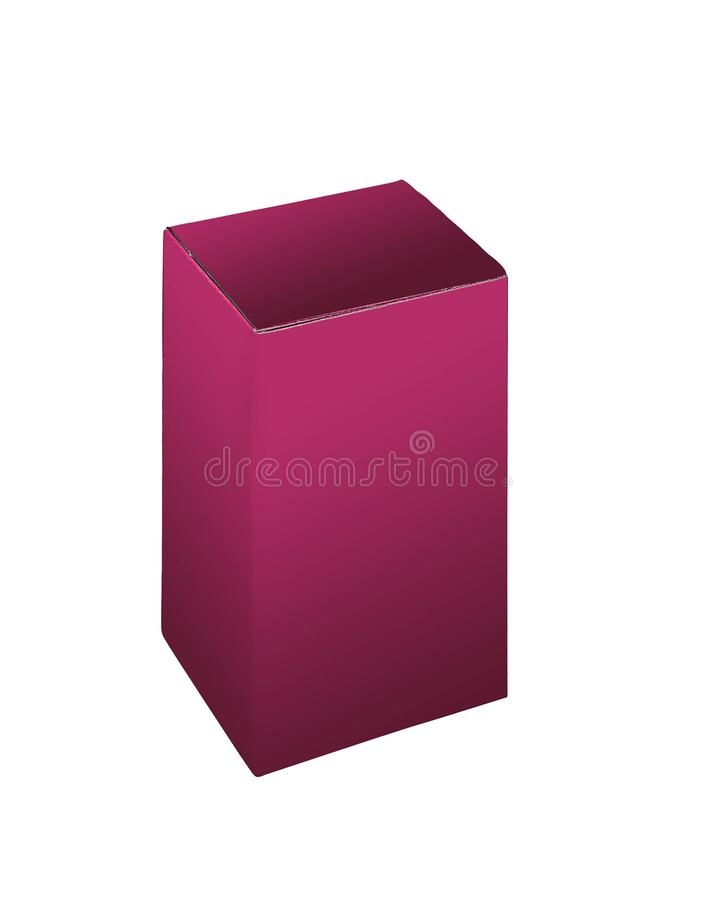 Violet cosmetic box royalty free stock photos