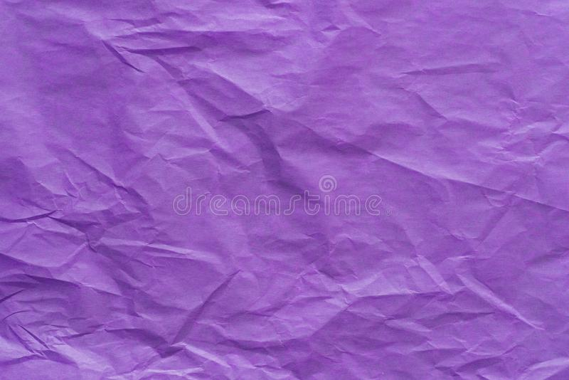 Violet creased paper tissue background texture stock images