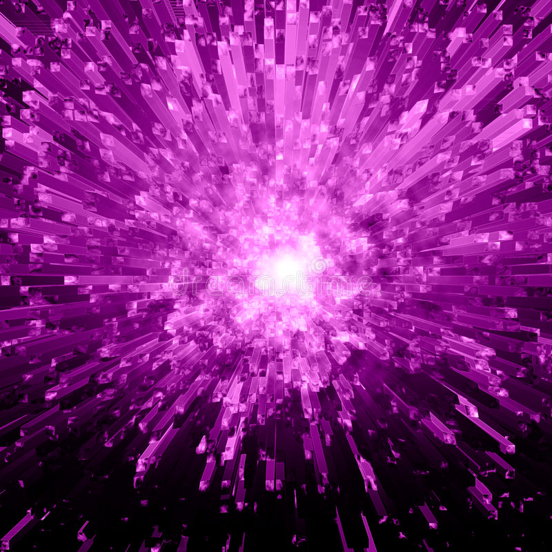 Download Violet Crystal Explosion stock illustration. Image of abstract - 6606969