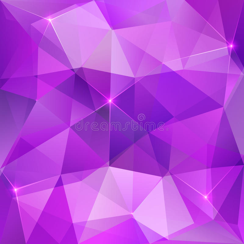 Violet crystal vector abstract background royalty free illustration