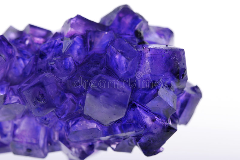 Download Violet crystals stock photo. Image of color, isolated - 3726900