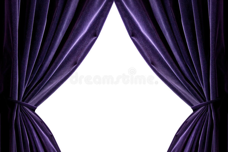 Download Violet Curtains Stock Photo. Image Of Drapes, Entrance   14055728