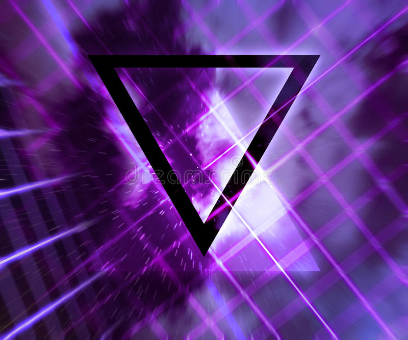Violet Daft Punk Abstract Background illustration libre de droits