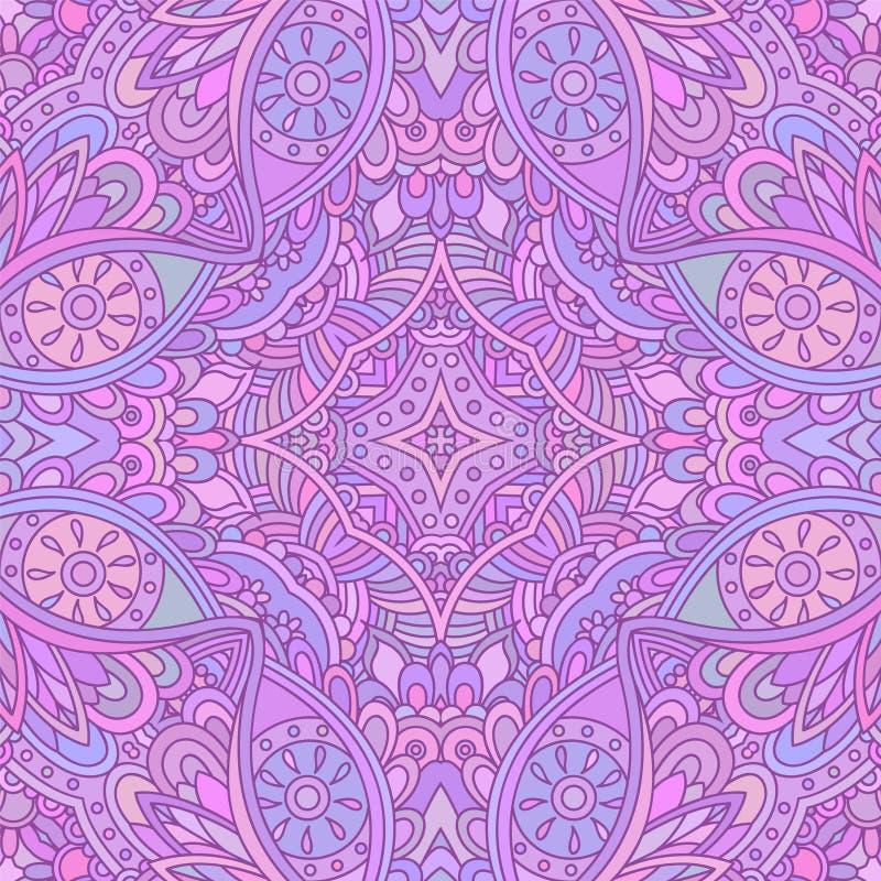 Violet decoratief naadloos patroon stock illustratie