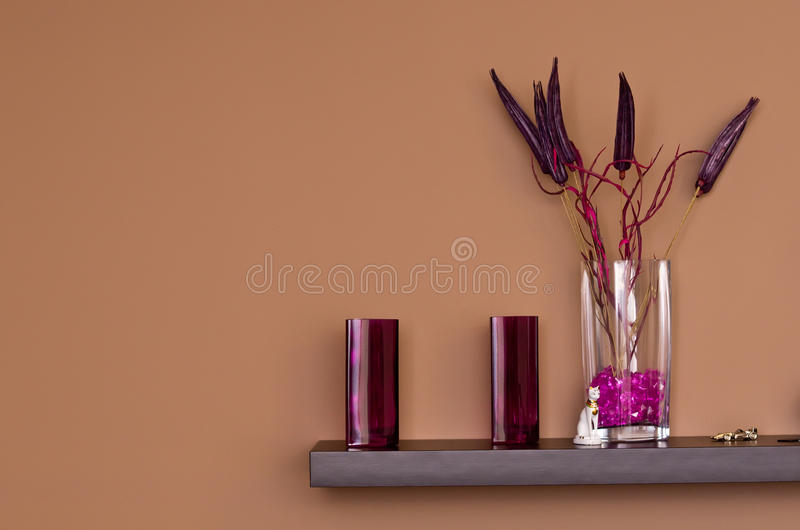 Violet Decorations Royalty Free Stock Images