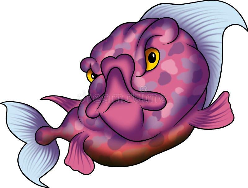 Violet dotted fish vector illustration