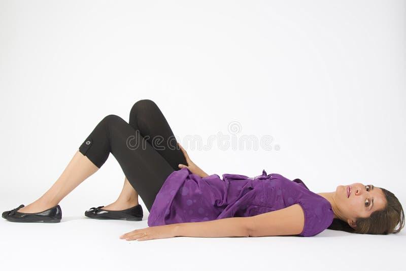 Violet Dress stock photo