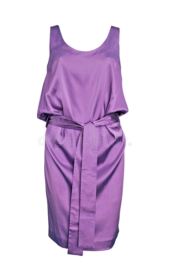 Violet dress royalty free stock image
