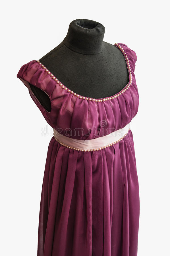 Violet Dress On Tailor S Dummy Royalty Free Stock Photo