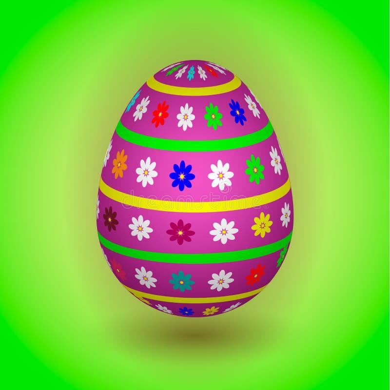 Violet Easter Egg con las flores libre illustration
