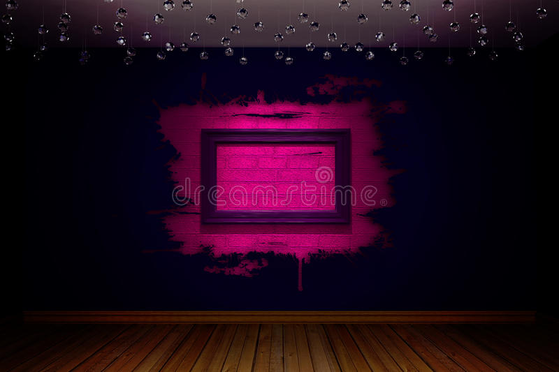 Download Violet empty room stock illustration. Image of home, architecture - 15648042