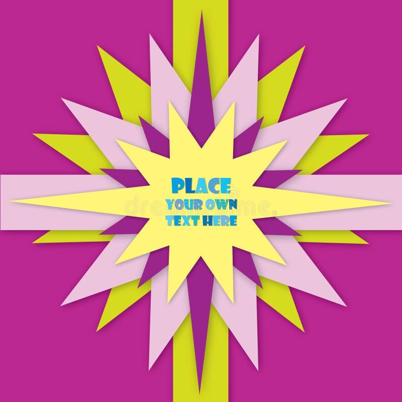 Download Violet En Geel Steretiket. De Kaart Van De Groet Voor Bithday Jong Geitje Of Partij Vector Illustratie - Illustratie bestaande uit gift, kinderjaren: 29504400