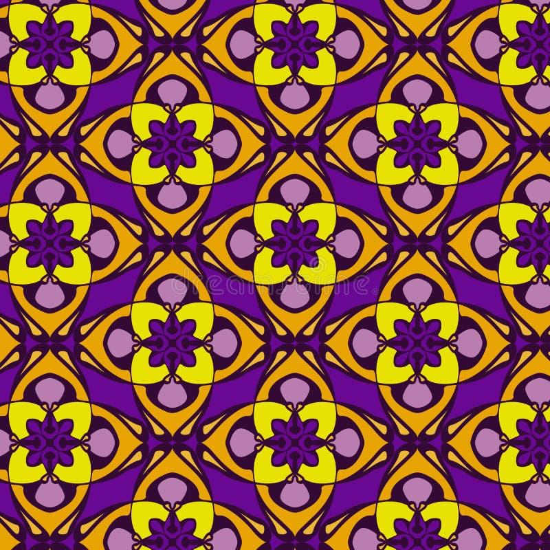 Violet en oranje abstract geometrisch patroon, achtergrond stock illustratie