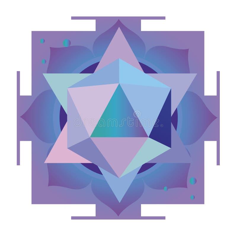 Violet esoterisch ontwerp royalty-vrije illustratie