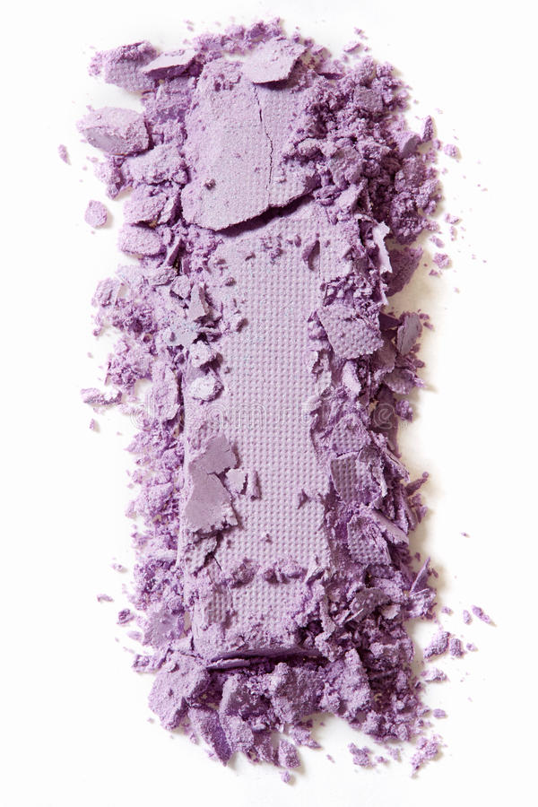 Violet eye shadow crushed on white royalty free stock photos