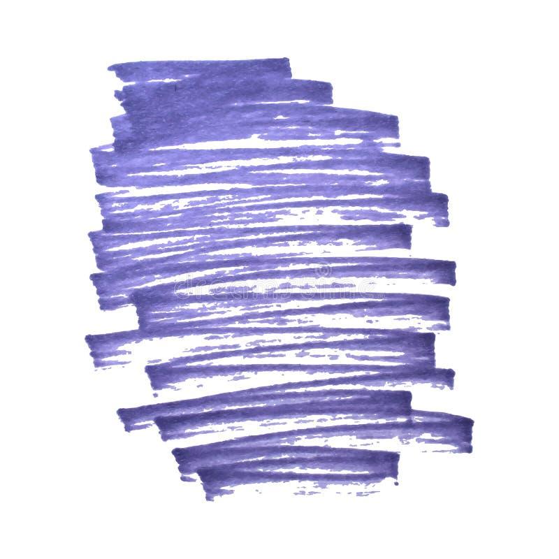 Violet för markörteckningsfläck stock illustrationer
