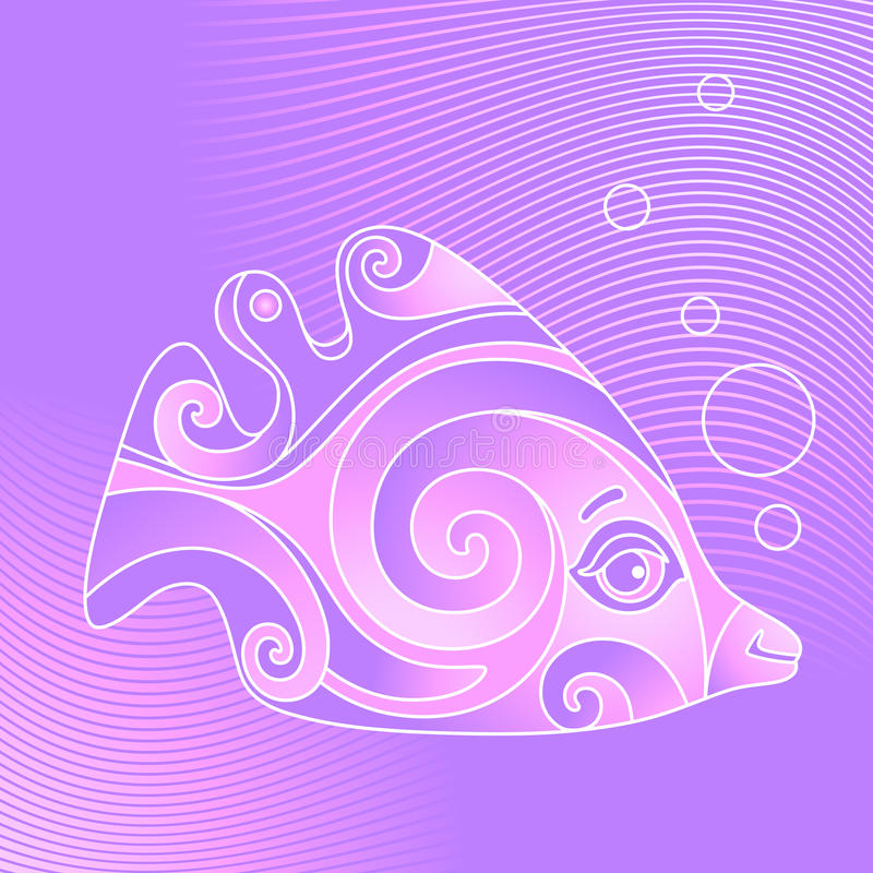 Download Violet fish stock vector. Image of tail, pattern, bubble - 26828275