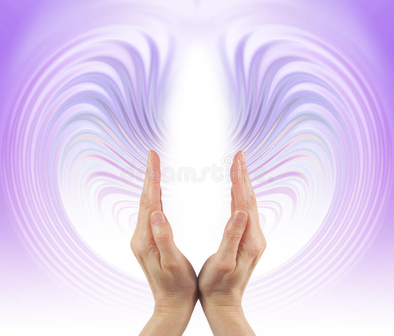 Violet Flame Energy Streaming stock images