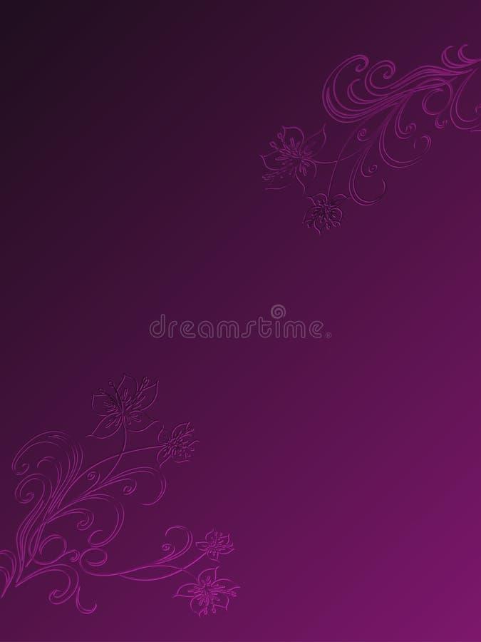 Violet Floral Background Template ocidental ilustração do vetor
