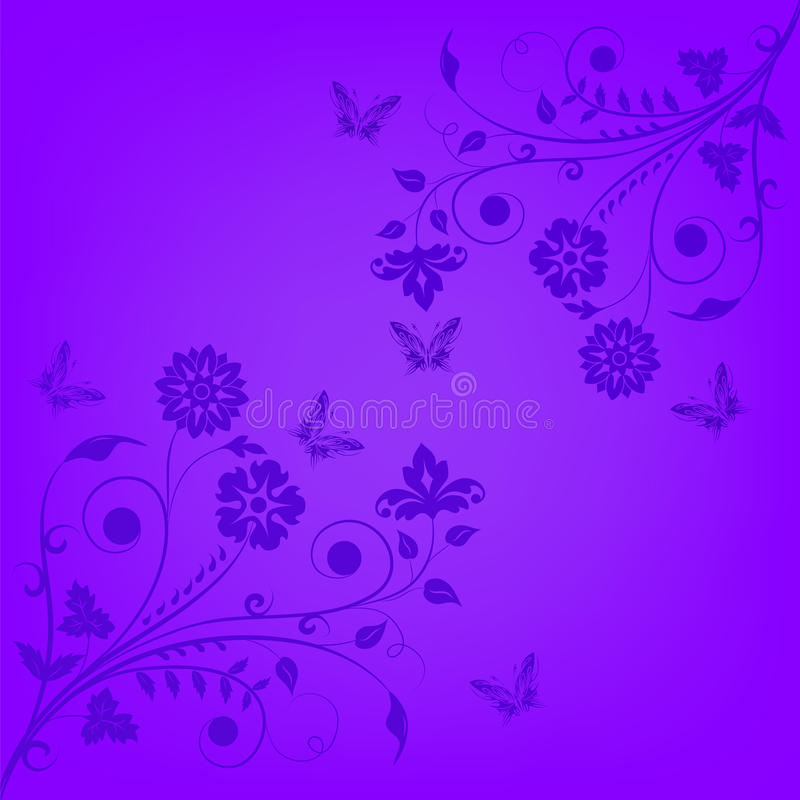Download Violet Floral Banner Royalty Free Stock Photos - Image: 28403318