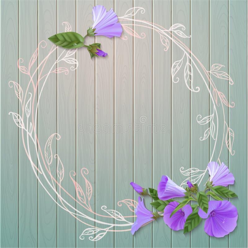Violet flowers stock illustration
