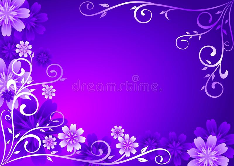 Violet Flowers Ornament royalty free illustration