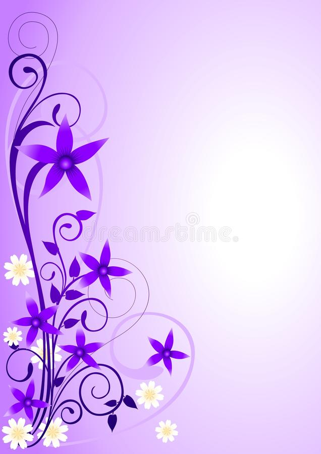 Violet Flowers Ornament_2 stock illustration