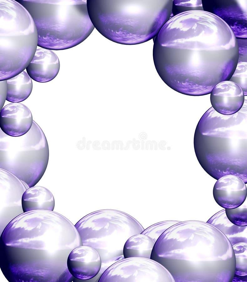 Violet frame royalty-vrije illustratie